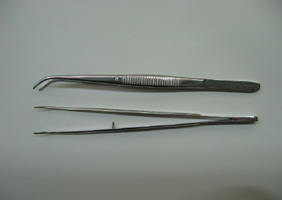 Met-App 2105-130 Forceps curved 130 mm